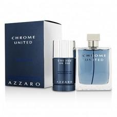 AZZARO CHROME UNITED 2PC 100ml edt/DEO STICK
