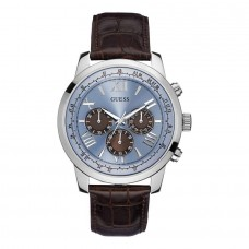 BLUE FACE CONOGRAPHIC LEATHER GUESS WATCH