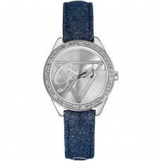 BLUE LEATHER GUESS WATCH