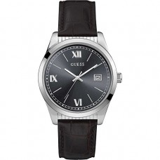 BLACK LEATHER GUESS WATCH